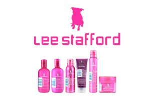 Lee Stafford hairdressing products, shampoo, conditioner, spray, wax & gel